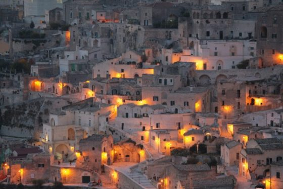 vista de la ciudad italiana matera patrimonio de la humanidad