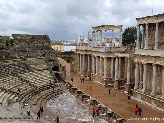 panoramica teatro romano de merida
