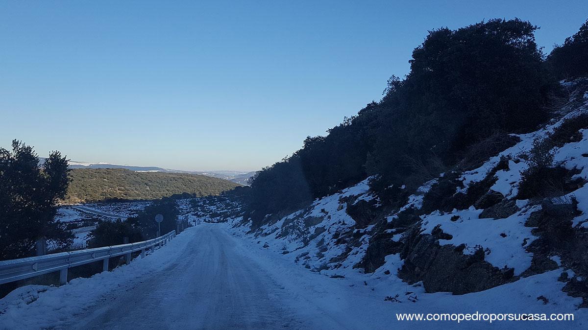 carretera con nieve Burgos